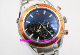 Wholesale Marine Stainless Watch - Hot men's quartz professional planet marine coaxial diving watch original watch men's watch diving chronograph limited edition orange