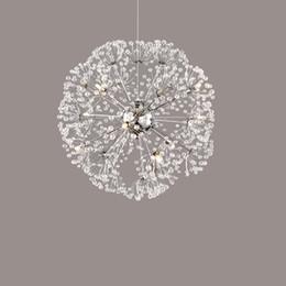 Wholesale Modern Crystal Chandelier Dining Room - Nordic personalized luxury romantic bedroom living room LED Crystal Pendant Light creative dandelion restaurant pendant lamp