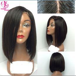 Perruques avant de lacet synthétique complet bob perruque très jolie belle perruques noires élégantes populaires droites pour femme ? partir de fabricateur