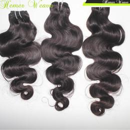 Wholesale Cheapest Wholesale Virgin Brazilian Hair - DHgate Cheapest Brazilian Virgin Hair Top 7A Body Wave Wefts 3pcs lot Unprocessed Human Hair Color 1B