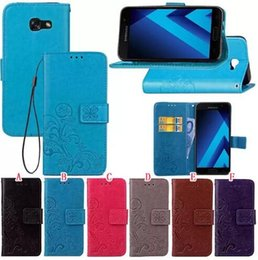Wholesale Strap Duo - Lucky Clover Wallet Leather Pouch Case For MOTO Play Samsung Galaxy J7 A3 A5 J3 Alpha G850F Trend Duos Strap Stand Card Cover