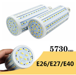 Wholesale E27 Bright White Led - Super Bright 40W 50W 60W 80W Led Bulbs E27 E40 SMD 5730 Led Corn Lights 360 Angle Led Pendant Lighting AC 110-240V