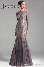 Wholesale New Arrivals Long Evening Dresses - 2016 Mermaid Mother Dresses Lace Appliue Long Sleeve Trunpet Prom Evening Dresses Luxury Elegant Mother of the Bride Groom New Arrival