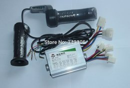 Wholesale 36v Scooter - Wholesale-800W 36V electric bicycle scooter motor brush controller throttle twist grip controlador de escobillas del motor