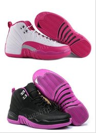 Wholesale Orange Basketball Shoes Kids - Wholesale Cheap Air Retro XII 12 Womens Basketball Shoes Prem HC GG GS HEIRESS Bone Gold PLUM FOG 12s Kids Youth Sneakers Shoes