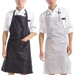 Wholesale Cook Clothing - PVC Waterproof Cooking Kitchen Apron Women Men Long Anti-oil Work Uniform Adult Bib Aprons for Men Chef Clothes Workwear