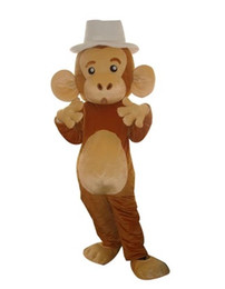 Wholesale Monkey Adult Mascot - Monkey Mascot Costume Halloween Costumes Chirstmas Party Adult Size Fancy Dress Free Shipping