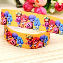 "Wholesale Hairbows Supplies - 7 8"" 22mm So Funny Printed Grosgrain Ribbon DIY Hairbows Accessories Headwear Materials Sewing Supplies 50 100Yards A2-22-2511"