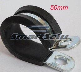 Wholesale Fuel Hose Pipe - 10 pcs 50mm Insulated Clamps P-Clamp Silicon, Fuel Pipe, plastic type hose clamp with steel clamp