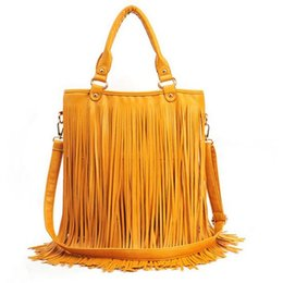 Wholesale Crochet Unique Fashion - Bags Fashion Bag Shoulder Bags Hot Selling Tassel Big Unique Design Many Color Fatory Price High Quality Soft Luxury Eleganct PU Material