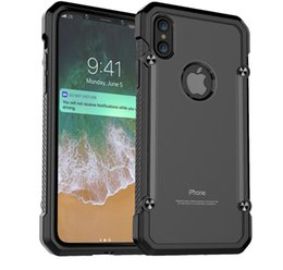 Wholesale Beatles Plastic - For iPhone X Case Strong ARMOR Shock Drop Proof PC+TPU Anti Scratch Black Back Panel Fashion Slim Cover Beatles Hot for iPhone 10