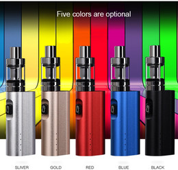 Wholesale health electronic - 50W Electronic Cigarette Kits High Power Box Mod 2200mAh Big Battery 3ml Atomizer Tank Large Smoke Safe And Health Starter Sets Vape Kit