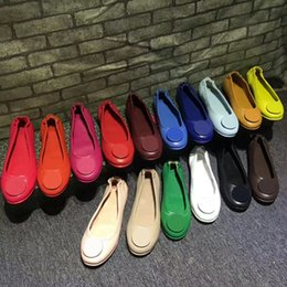 Wholesale rolling shoes - AYJ029 Famous Brand Designer Roll-Up Metal Buckle Sheepskin Genuine Leather Ballet Flats Slip On Casual Loafers Lady Women Shoes Sz 35-41