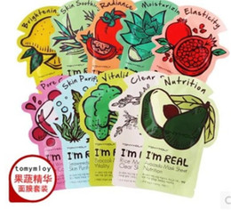 Wholesale Tonymoly Wholesale - 100% Original Korea Tonymoly Tony Moly I'm REAL Seaweed Facial Mask Sheet 10PCS   Lot Free Shipping