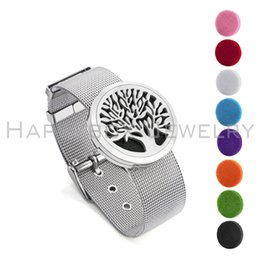 Wholesale Metal Rhinestone Mesh - Mother day's gift Stainless Steel Metal Mesh Bangle bracelet floating locket watch bracelet for women