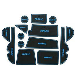 Wholesale Door Mat Rubber - Car styling Accessories For Toyota RAV4 RAV 4 2016 2017 Gate Slot Pad Anti Slip Door Groove Mat Non-slip Cup Mats