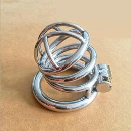 Wholesale Small Metal Chastity Cages - Sale Real Stainless Steel Chastity Cages Small Male Chastity Device Metal Cock Cage For BDSM Games Sex Toys