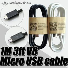 2019 cargador movil s3 1M 3FT Adaptador de cable de cargador de sincronización de datos Micro USB para Samsung Galaxy S4 S IV i9500 S3 S2 Blackberry HTC Venta caliente
