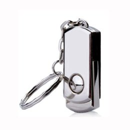 Wholesale 64 Gb Pen Drive - No Logo 5 Piece Metal Rotatable USB Drives Brand New USB Memory Stick Whirl U Disk USB2.0