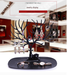 Wholesale Gold Necklace Stand - New Listing Jewelry Display Deer Shape so Cute Earrings , Ring Display Stand Holder With Plastic Material 9.03**9.84inch deer form display