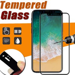 Wholesale Cover Guards - Glossy Carbon Fiber 3D Curved EdgeTempered Glass Screen Protector 9H Full Cover Clear HD Film Guard For iPhone X 8 7 Plus 6 6S Samsung S7