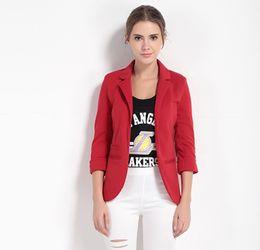 Wholesale Blazer Cardigan Women - Blazer Feminino Long Sleeve Women's Coat Jaqueta Feminina Office Lady Cardigan Casaco Feminino Women Blazers and Jackets 7 Colors