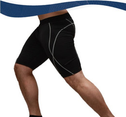 Wholesale Tight Gym Shorts Wholesale - Wholesale-Athletic Men's Sport Tight Shorts Casual Leisure Summer Fitted Gym Men Workout Skinny Running Yoga Fight Short Male