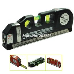Wholesale Multipurpose Horizon Vertical Laser - Wholesale-Multipurpose Level Laser Horizon Vertical Measure Tape spirit level tool Laser 03 with 2.5m measure tape