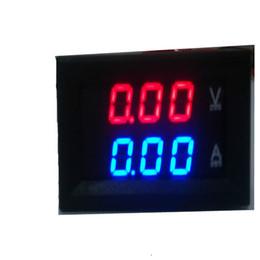 2019 aa embalagem da bateria DC Dupla Amperímetro Volt Medidor 0.28 Polegada Lcd Display Digital Medidor de Bateria Testadores para Carros Elétricos Vechiles GNEA048