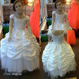 Élégante Fleur Filles Robe De Bal Longue Danse Princesse Vêtements Habillés Mariages Fête Petites Filles Robe Première Robe De Communion ? partir de fabricateur
