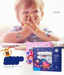 2019 impressão de adesivo de vinil Moda adesivos decorativos, crianças beleza bonito corpo adesivos, vender em 12 folhas por conjunto de papel adesivo estilo de tatuagem