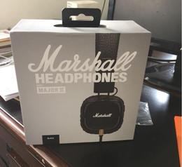 Wholesale Dj Hifi - Marshall Major II Headset With Mic Deep Bass DJ Hi-Fi Headphones HiFi Earphones Professional DJ Stereo Monitor 3.5MM Aux Headphones