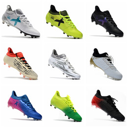 Wholesale Messi Shoes Red - 2017 Mens original soccer cleats x 17.1 outdoor soccer shoes X 16.1 FG AG football boots cheap messi cleats X 16 soccer boots Blue grey