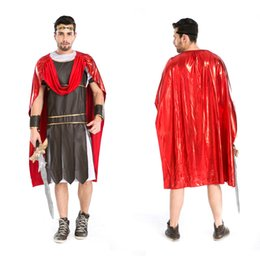 Wholesale Sparta Costume - Sparta roman warrior clothing ancient gladiators warrior halloween costume for adults Greek mythology warrior cosplay