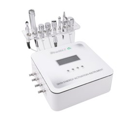 Wholesale Ultrasonic Galvanic - Newest Multi 7 in 1 Skin Energy Activation Instrument Ultrasonic RF Facial Machine Micro Current Facial Rf Machine 1 with galvanic