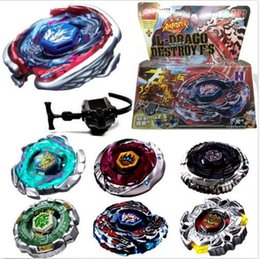 Wholesale New Beyblade Metal Fusion Toys - Fusion Metal Rapidity Fight Masters 4D Top Beyblade String Launcher Toys Set NEW