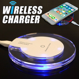 Wholesale High Efficiency - High Quality Qi Wireless Charger For Samsung S6 Edge s7 edge s8 plus iphone 8 X Fantasy High Efficiency pad with retail package