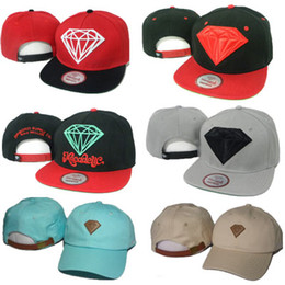 Wholesale Cheap Diamond Snapbacks - Diamond Snapbacks Hat Men Women Diamonds Snapback Yellow Mac Miller Hip Hop Caps Baseball Hats Snap Backs Mix Cheap Wholesale