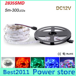 Wholesale Light Tape Pricing - SMD 2835 LED Strip light 300 LEDs   5M New Year String Ribbon lamp More Brighter than 3528 3014 Lower Price 5050 5630 Tape