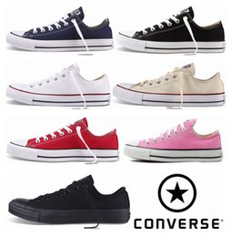 Wholesale Skateboard Sneaker Shoes Men - 2018 Converse Chuck Tay Lor All Star Shoes For Men Women Brand Casual Low Classic Skateboard Canvas Converses Running Casual Sneakers 35-44