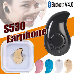 Wholesale Hidden Bluetooth Earphones - For iPhone X S530 Mini Wireless Small Bluetooth Earphone Stereo Light Stealth Headphone Headset Earbud With Mic Ultra-small Hidden With box