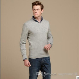 Wholesale Polo Neck Men - high quality mile wile polo brand men's twist sweater knit cotton tommy sweater jumper pullover sweater Free Shipping