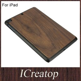 Wholesale Ipad Bamboo Cover - Bamboo wooden Hard back cover with bamboo cherry walnut iPad wood cases cover for iPad Air 2 Mini 3 4 Shockproof Backcover Freeshipping