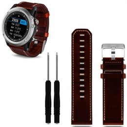 Wholesale Tools For Leather - Wholesale-Excellent Quality New Luxury Leather Strap Replacement Watch Band Strap 2pc Screwdriver Tools For Garmin Fenix 3 Smart Watch