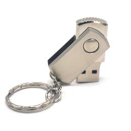 Wholesale Disk Flash Drive Usb Metal - Swivel Metal USB Flash Drive Pendrivers Memory Disks USB 2.0 Real 2GB 4GB 8GB 16GB USB Flash Drives