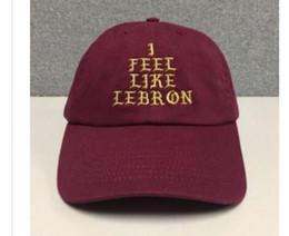 cap lebron Desconto Eu sinto como chapéu LEBRON (fivela de slides) james kanye west 350 370 boné pablo drake ovo bonés de beisebol chapéus casquette kanye west bear pai cap