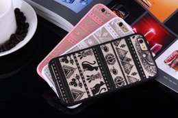 Wholesale cartoon sexy case - Fashion Sexy Lace Floral Paisley Flower Mandala Henna Clear Case For iphone X 6 6S 7 8 6s 7 Plus Phone Cases Cartoon Capa Back Cover