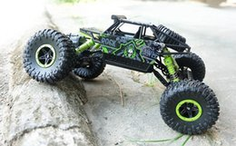 Wholesale 4wd 18 Electric - 2.4G 4CH 4WD RC Car Rock Crawlers 4x4 Driving Car Double Motors Drive Bigfoot Car Remote Control Car Model Off-Road Vehicle Toy