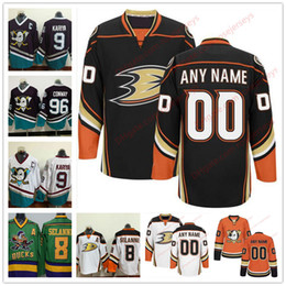 Wholesale M Ducks - Stitched Custom Anaheim Ducks mens womens youth OLD BRAND Orange White Black Third Mighty Purple White vintage ice hockey green Jersey S-4XL