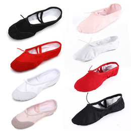 Wholesale Split Sole Canvas Ballet Shoes - Ballet Dance Shoes Paws Belly Dancing Canvas Practice Kids Girls Ladies Split Sole Freed Pure Ballet Gymnastics Pointe Shoes
